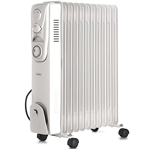 aff8812dab2 VonHaus Oil Filled Radiator 2.5KW 11 fin – Portable Electric Heater – 3  Power Settings