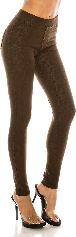 ShyCloset Pocket Jeggings Jeans Leggings Pants - Women Bottom Casual Comfy Slim Fit Denim Skinny Stretch Plus Size