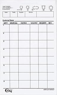 Choice 1 Part White Waiter / Waitress Order Pad - 10/Pack