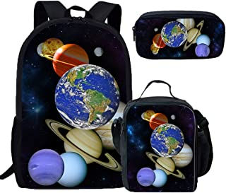 Coloranimal Series of Childrens School Bag+Lunch Bag+Pencil Case Universe Space Packs
