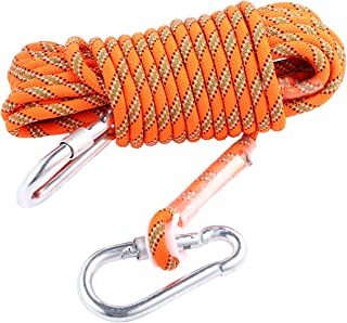 ULTECHNOVO 10M Safety Rope Magnet Fishing Nylon Rope with Carabiner High Strength Cord Safety Braid Rope for Magnet Fishin...