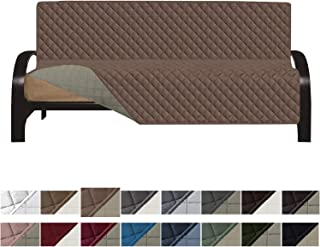 Easy-Going Futon Sofa Slipcover Reversible Sofa Cover Furniture Protector Couch Cover Water Resistant PetsKidsChildrenDogCat(Futon,Brown/Beige)