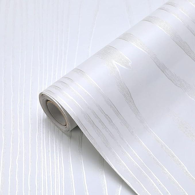 17 opiniones para KINLO Papel Adhesivo Pintado Impermeable con la Imagen de Madera Pegatina de PVC