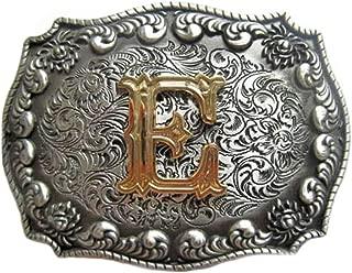 Western-buckle 3D-lettera V con vero oro cuscino fibbia