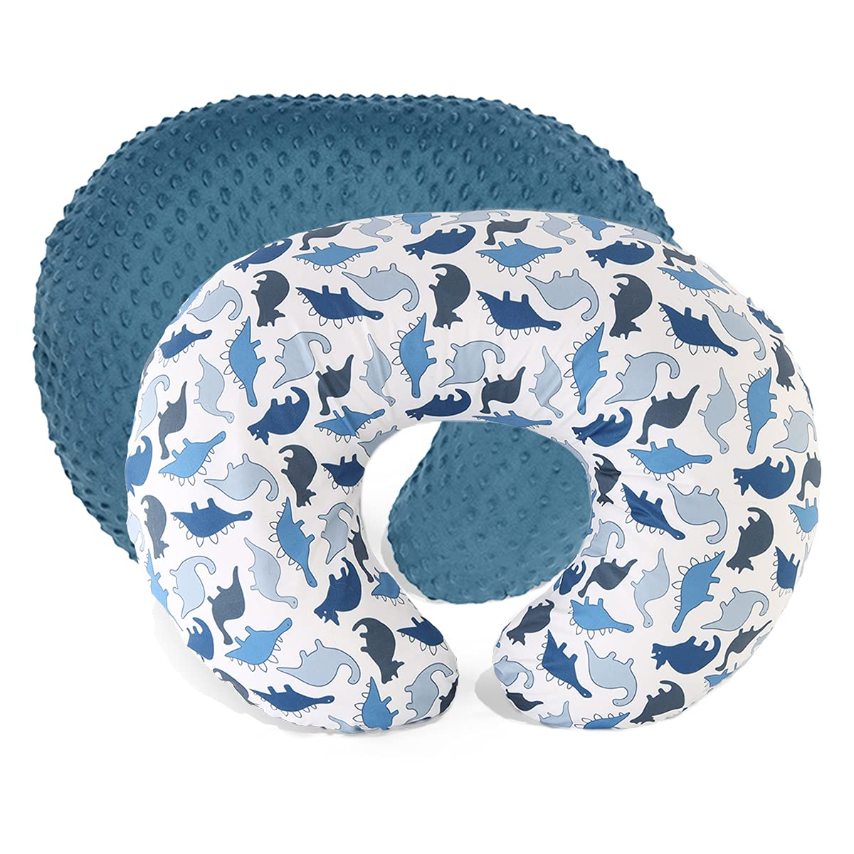 Love 2Mi Nursing Pillow Covers Minky Dots Breastfeeding and Bottle Feeding Nursing Pillow Case for Infant Baby Boy Girl Breathable and Soft 2 Pack