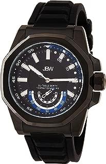 JBW Mens Quartz Watch, Analog Display and Silicone Strap
