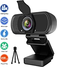 Webcam with Microphone, Hrayzan 1080P HD Webcam with Privacy Cover and Tripod, Streaming..