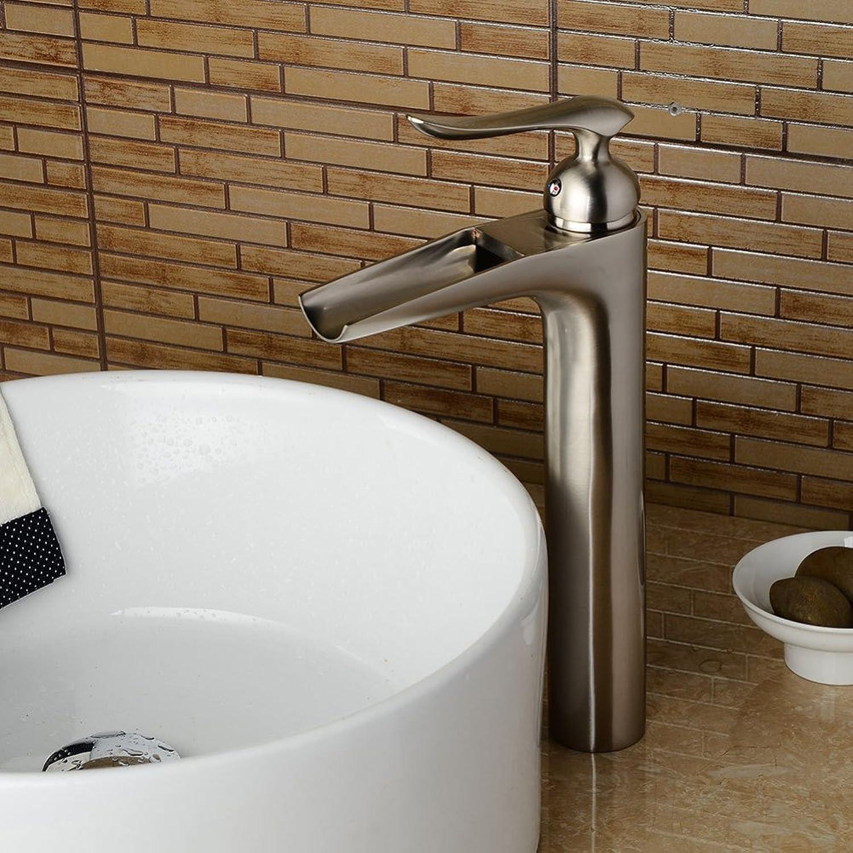 YnFaucet retro European basin faucet hot and cold waterfall drawing tap bathroom ceramic basin faucet