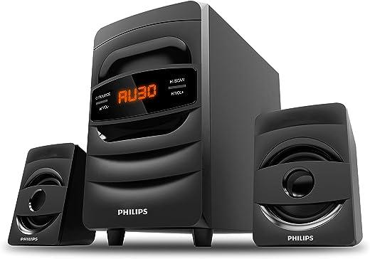 Philips MMS2625B 2.1 CH Bluetooth Multimedia Speakers, Black