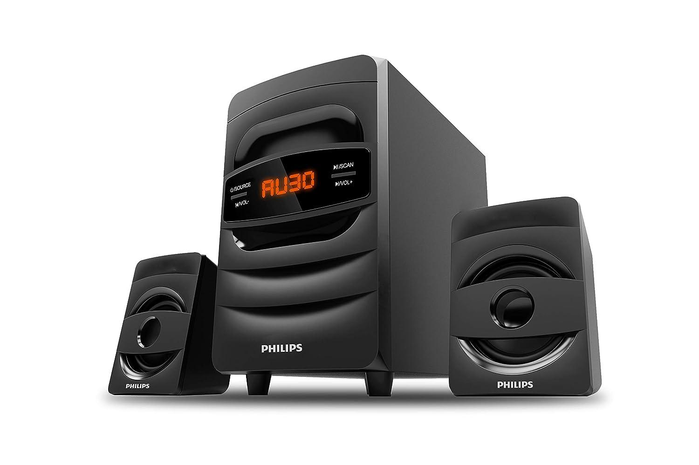 Philips Audio MMS2625B 2.1 CH Bluetooth Multimedia Speakers (Black)