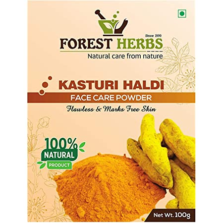 The Forest Herbs 100% Natural Organic Pure Kasturi Manjal Wild Turmeric Powder for Skin Whitening 100Gms