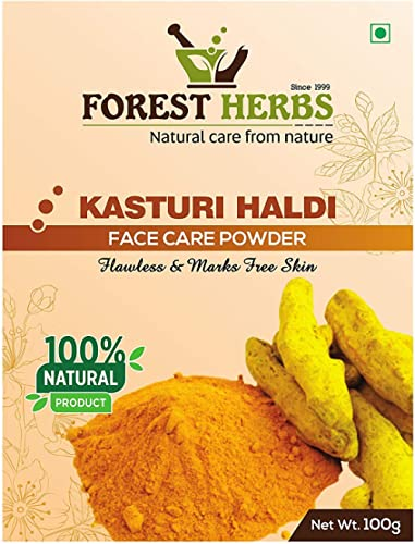 Forest Herbs 100% Natural Organic Pure Kasturi Manjal Wild Turmeric Powder for Skin Whitening 100Gms
