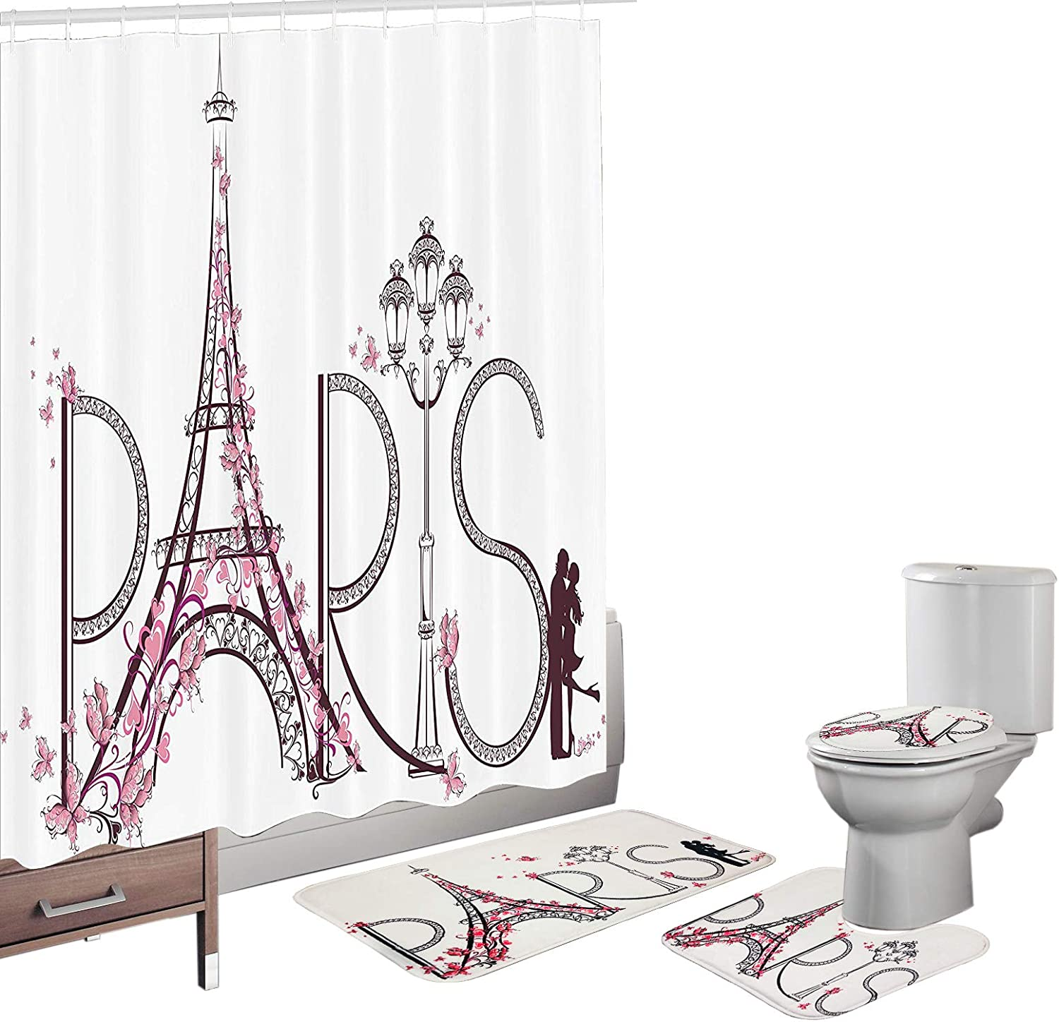 Memphis Mall Tampa Mall Amagical Paris Tower Eiffel with Co Lettering Pink Flowers