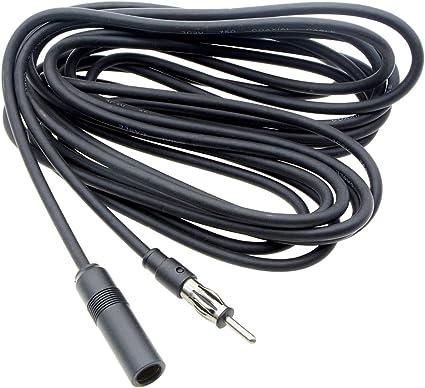 Saim macho a hembra Auto adaptador de antena Antena Radio de coche antena Cable de extensión 5 m/16ft