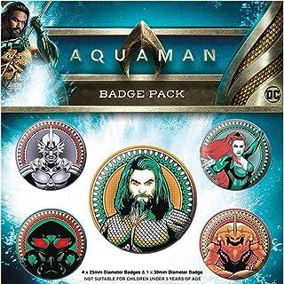AQUAMAN アクアマン - Heavy Hitters Of The Seas 5個セット / バッジ 【公式/オフィシャル】
