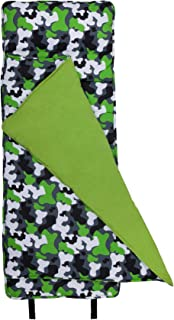 Wildkin Original Nap Mat, Features Built-In Blanket and Pillow, Perfect for Daycare and Preschool or Napping On-the-Go – Green Camo