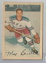 1953-54 Parkhurst Hockey Max Bentley Card # 55 Ex-Mt Condition Set Break