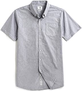 Men's Short Sleeve Oxford Button Down Casual Shirt