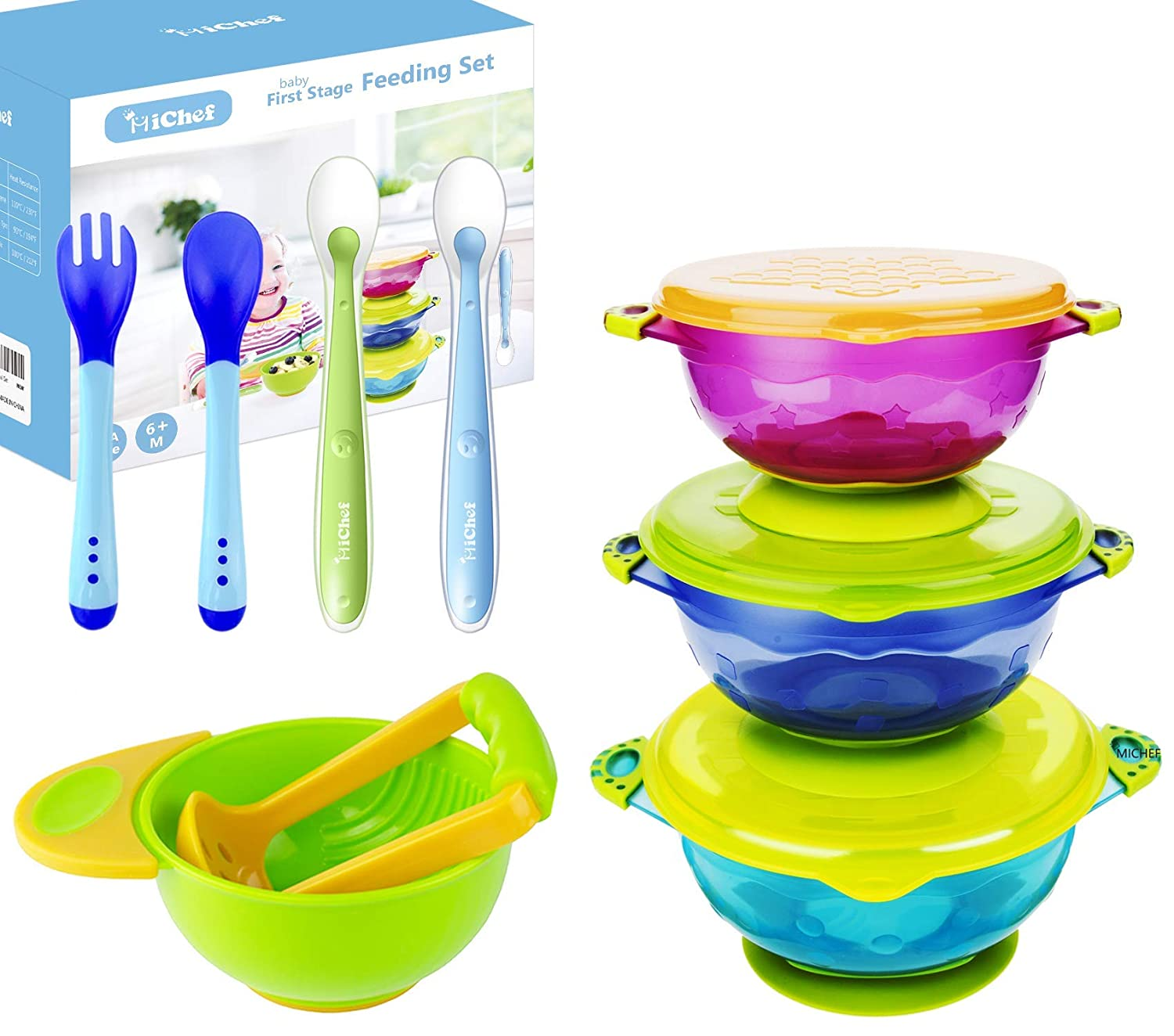El Paso Mall MICHEF Inventory cleanup selling sale Baby Bowls Feeding Set 2 F Hot Safe with