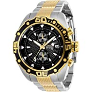INVICTA Pro Diver Men 48mm Stainless Steel Gold + Stainless Steel Black dial VD51B Quartz
