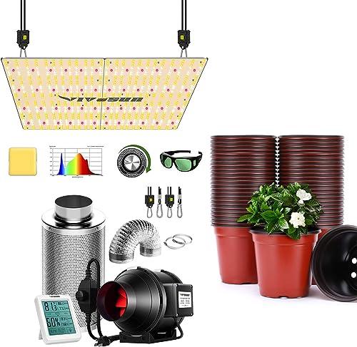 lowest VIVOSUN VS4000 LED discount Grow Light with Air 2021 Filtration Kit, Planter Nursery Pots outlet sale