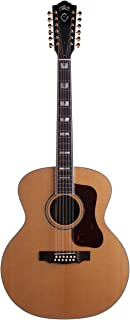 Guild Traditional Series F-512 Rosewood Jumbo 12-String Acoustic Guitar with Premium Hardshell Case - Natural