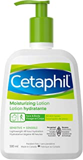 Cetaphil Moisturizing Lotion With Avocado Oil And Glycerin, 500ml- 48hr Hydration - For Sensitive Skin - Fragrance Free, P...