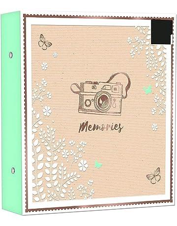 capacidad para 200 fotos de 13 x 18 cm /Álbum de fotos para beb/é Mareli 21 x 28 cm con bolsillos