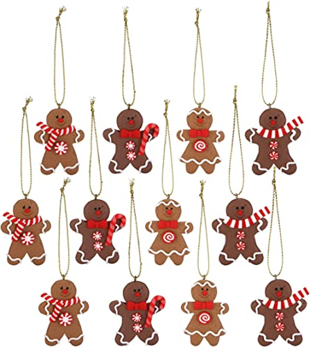 Sea Team Assorted Clay Figurine Ornaments Traditional Gingerbread Man Doll Gingerman Hanging Charms Christmas Tree Or...