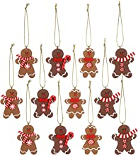Sea Team Assorted Clay Figurine Ornaments Traditional Gingerbread Man Doll Gingerman Hanging Charms Christmas Tree Ornamen...
