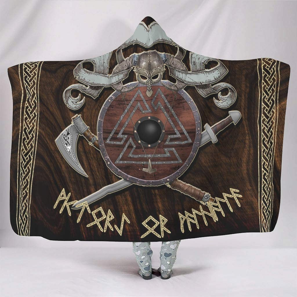 KASTLEE Dedication Viking Helmet Axes Shield Throw Clo Hooded Blankets Knot New Orleans Mall