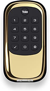 Yale Security YRD110ZW605 Real Living Keyless Push Button Deadbolt with Z-Wave, Polished Brass