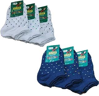 Fontana Calze, 6 paia di calze bimbo in cotone Filo di Scozia elasticizzato modello pariscarpa,POIS