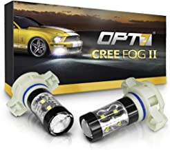 OPT7 CREE Series 5202 LED DRL Fog Light Bulbs - 5000k Bright White - Pack of 2