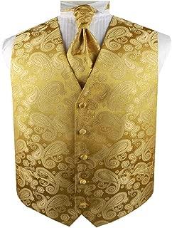 Men's Dress Tuxedo Paisley Formal Waistcoat and Cravat