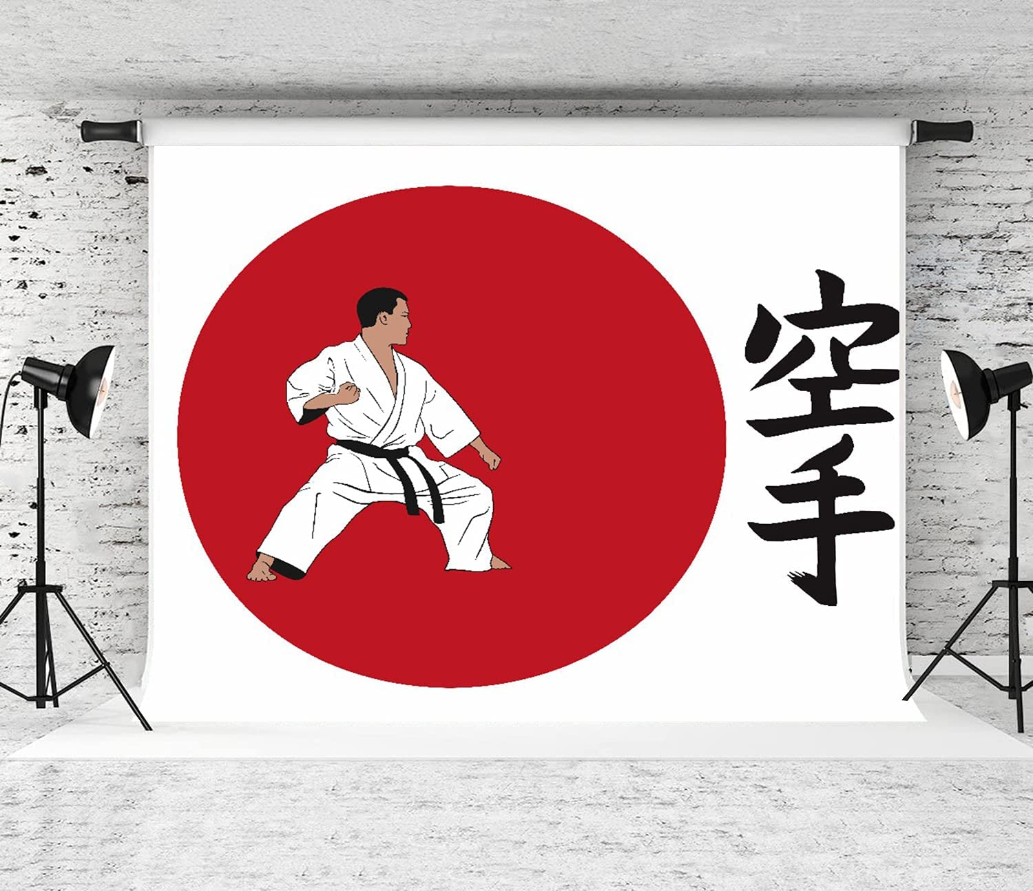 ZOANEN Photography Max 83% OFF Background a demonstrating Man discount Inscri Karate.