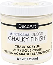 Deco Art ADC-03 Americana Chalky Finish Paint, 8-Ounce, Whisper
