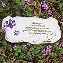 BJSM Pet Grave Markers, Hand-Printed Personalized Indoor Outdoor for Garden Backyard Marker Dog Tombstone- Loss of Pet Gifts (Shining Paw)