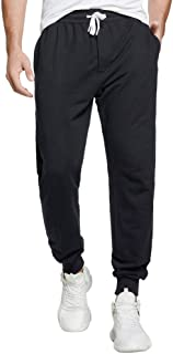 Sponsored Ad - czzstance Men's Joggers Sweatpants Cotton Casual Pants with Pockets Drawstring Gym Workout Athletic Trainin...