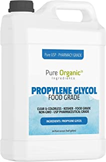 Propylene Glycol Half Gallon (64 oz.) by Pure Organic Ingredients, 100% Pure, Food & Pharmaceutical Grade, Hypoallergenic Moisturizer and Skin Cleanser