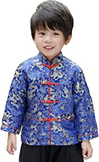 Baby Boy's Thin Coat Children Dragon Cheongsam Traditional Coat Boy Outwear Costume