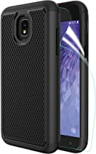 Innge Samsung Galaxy J3 2018 Case,J3 Achieve Case,J3 Star Case,Amp/Express Prime 3,Sol 3,J3V 3rd,J3 Orbit Case w/Screen Protector,[Shockproof] Dual Layer Armor Defender Protective Case Cover,Black