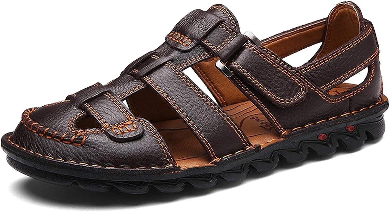The Beste of us Summer Sandals Men Leather Classic Roman Sandals 2018 Slipper Outdoor Sneaker Beach Rubber Flip Flops Men Water Trekking Sandals