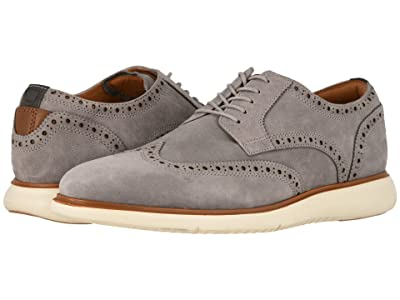 Florsheim Fuel Wing Tip Oxford (Light Gray Nubuck w/ White Sole) Men