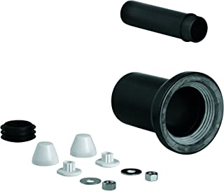 GROHE 37311K00 Wall Carrier Toilet Inlet and Outlet Connecting Set, Black