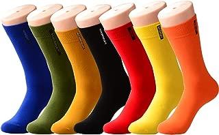 PUTON Men's Fun & Funky Colorful Cotton Dress Socks