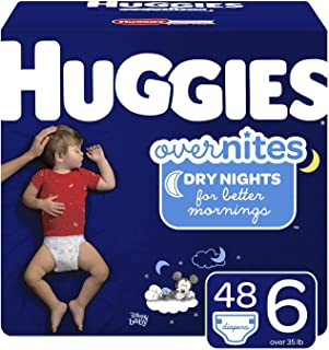 HUGGIES OverNites Diapers, Size 6, 48 Count, Overnight Diapers (Packaging May Vary)
