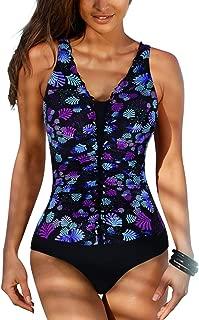 Firpearl Women's Tank Swimsuits Flyaway Plus Size Tankini Bathing Suits