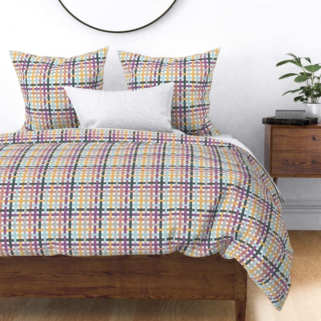 Roostery Al Ranking TOP7 sold out. Duvet Cover Ribbon Plaid Spring Colors Ribbons Easter