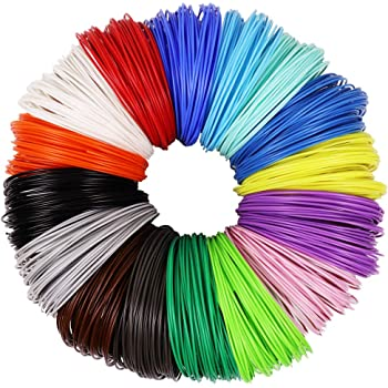 3D Pen Filament Refills 29 colors Total 435ft Includes Transparent Fluorescent Glow In The Dark Colors plus more 1.75mm ABS Filament Bundle Ebook /& Carry case